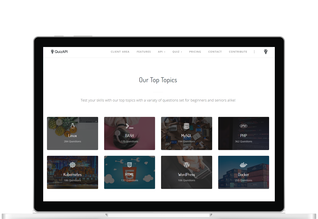 Quiz API Website